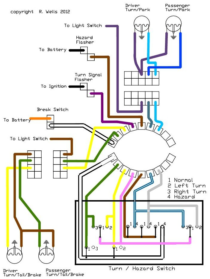 LightingDiagram turn signal wiring diagram turn signal flasher wiring diagram Turn Signal Relay Wiring Diagram at gsmx.co